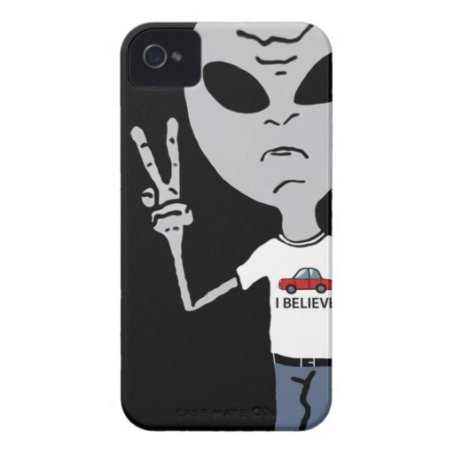 Peace Alien Blackberry Cases