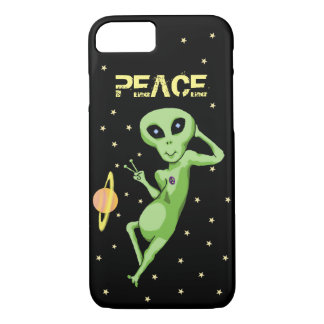 Peace Alien Cell Phone Case