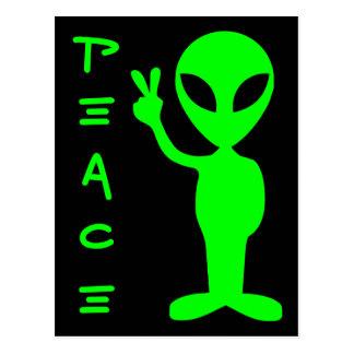 Peace Alien Postcard