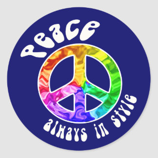 Peace Always in Style Stickers