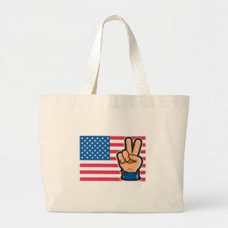 Peace American Flag Design Bags