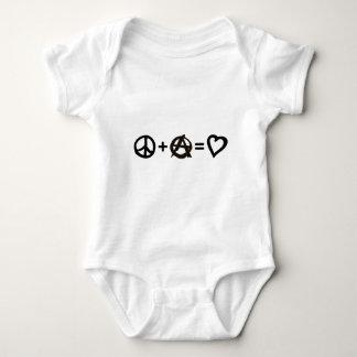 Peace + Anarchy = Love Baby Bodysuit