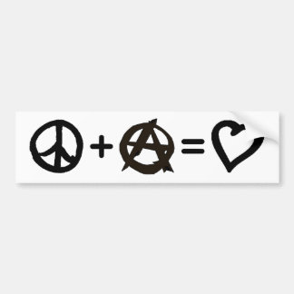 Peace + Anarchy = Love Bumper Sticker