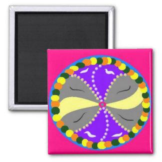 Peace and Comfort Mandala Fridge Magnets
