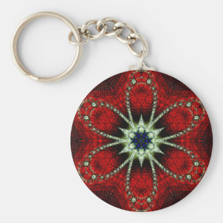 Peace and Harmony Basic Round Button Key Ring