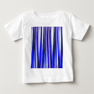 Peace and Harmony Blue Striped Abstract Pattern Baby T-Shirt