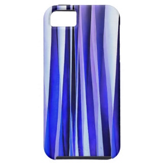 Peace and Harmony Blue Striped Abstract Pattern iPhone 5 Case