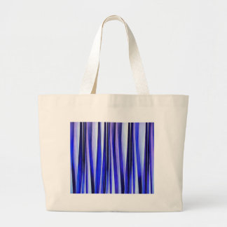 Peace and Harmony Blue Striped Abstract Pattern Large Tote Bag