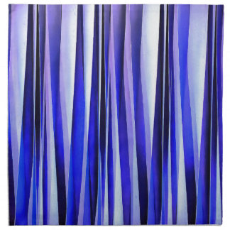 Peace and Harmony Blue Striped Abstract Pattern Napkin