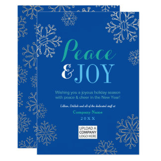 Peace and Joy   Corporate Holiday Cards