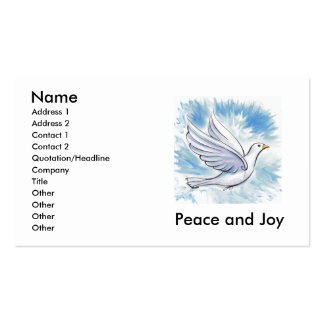 Peace and Joy Dove Cards Business Card Template