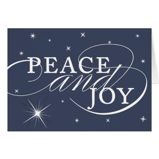Peace and Joy Holiday Card