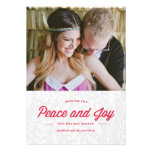 Peace and Joy Holiday Card Personalized Invites