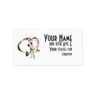 Peace and Love Address Label