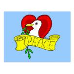Peace and Love Dove Postcard