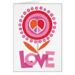Peace and LOVE flower Greeting Card