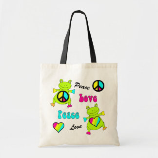 Peace and Love Frogs Bags