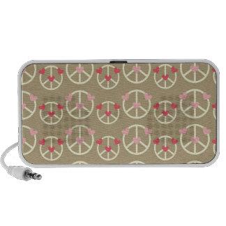 peace and love pattern II Laptop Speaker
