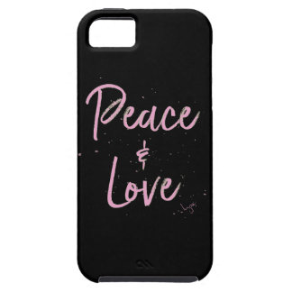 PEace-and-Love-Pink Case For The iPhone 5