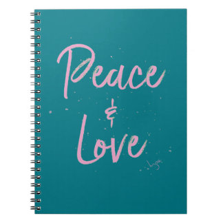 PEace-and-Love-Pink Notebook