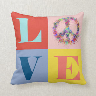 Peace and Love | Pop | Modern Cushion
