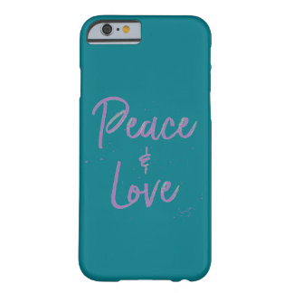 PEACE-and-Love-Purple Barely There iPhone 6 Case