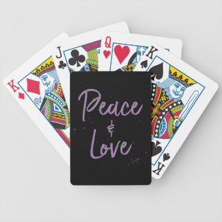 PEACE-and-Love-Purple Bicycle Playing Cards