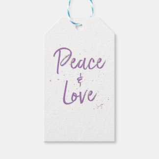 PEACE-and-Love-Purple Gift Tags
