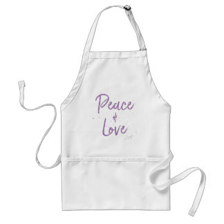 PEACE-and-Love-Purple Standard Apron