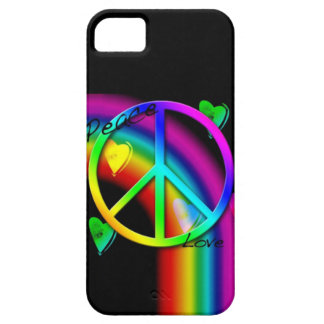 Peace and Love Rainbow - iPhone 5 Case