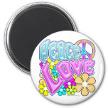 Peace And Love Refrigerator Magnets