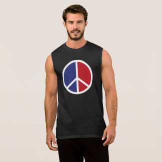 Peace And Love Sign Sleeveless Shirt