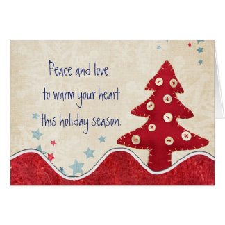 Peace and Love this Holiday Season Card