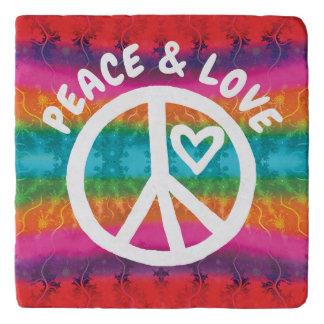Peace and Love Tie Dye Stripes Trivet