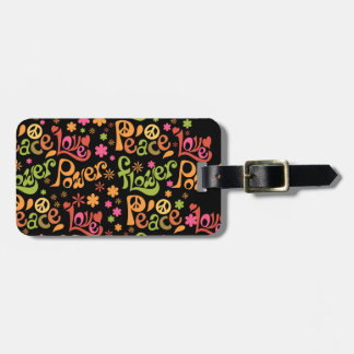 Peace and Love To Go Luggage Tag