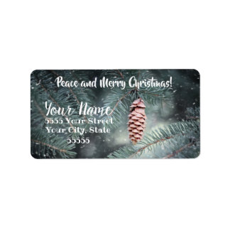 Peace and Merry Christmas Address Labels