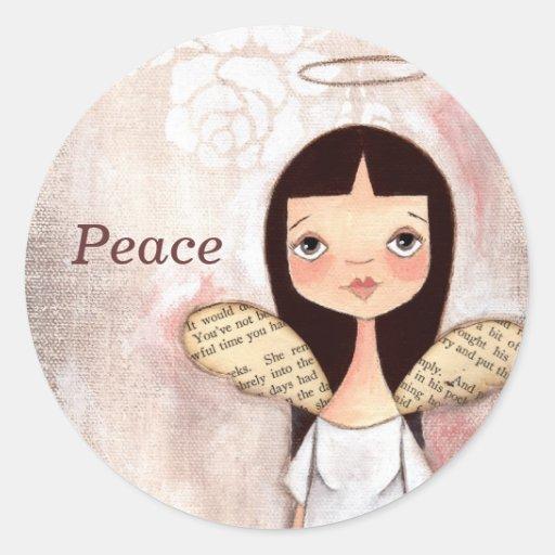 Peace - Angel Stickers