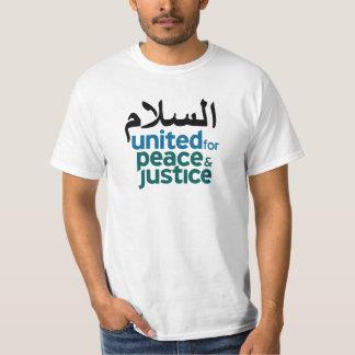 """""""Peace"""" Arabic White T-shirt"""