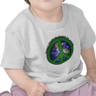 Peace around the world shirt