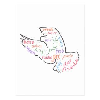 Peace Around World Postcard