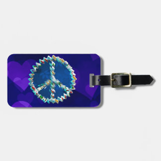 Peace Art Symbol Luggage Tag