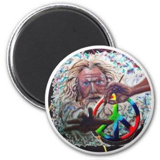 Peace Artist 6 Cm Round Magnet