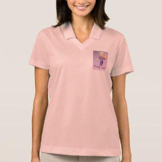 Peace Baby Pink Pique Polo Shirt