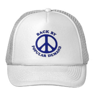 Peace Back By Popular Demand~Navy Blue Mesh Hat