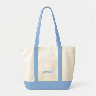 peace! canvas bag
