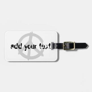 Peace Bag Tag