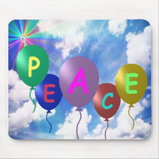 Peace Balloons 1-0-1 Mouse Pad