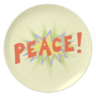 Peace Bang Party Plate