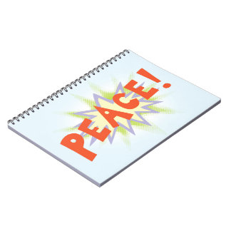 Peace Bang Spiral Notebooks