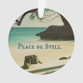 Peace Be Still Bible Verse with Ocean